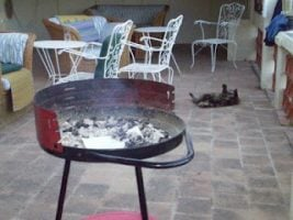 Barbeque on a patio