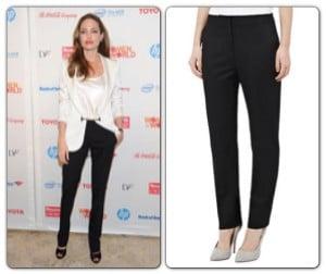 Angelina Jolie & Reiss Black Trousers
