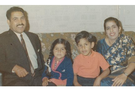 Kiran's family in 1969