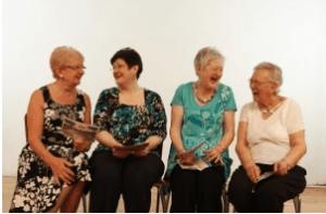women enjoying friendship