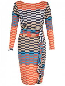 A multicoloured wrap-around dress
