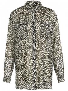 A long leopard-skin shirt