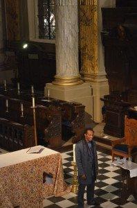 Benjamin Zephaniah in Birmingham Cathedral