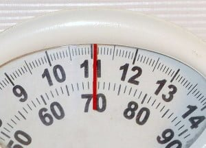 Dial on weighing scales