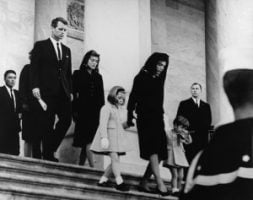 WIfe and children at Kennedy's funeral