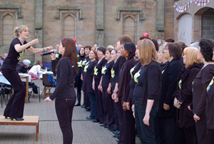 ock Choir performing at a Jubilee event