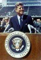 JFK giiving a speech