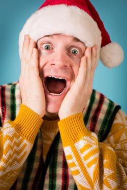 Stressed Christmas Man