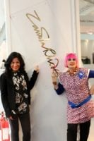 Zandra at exhibition