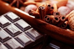 close-ups of chocolate with delicacies - sweet food