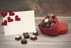 Box with chocolates is for you