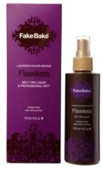 Fake bake self tan product and packaging