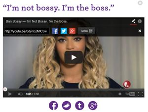 Beyonce talking about ban bossy