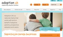 Screenshot of Adoption UK website