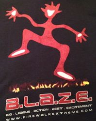 T-shirt from a firewalking event organised by Blaze