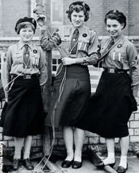 Girl guides in the 1950s