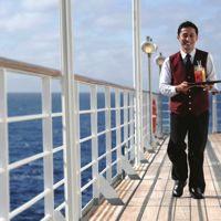 Butler service on a cruise liner