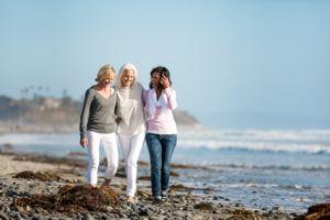 Three beautiful mature women are best friends.
