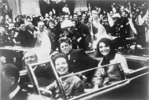 J F Kennedy in open top car