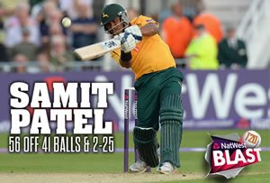Samit Patel takes a shot