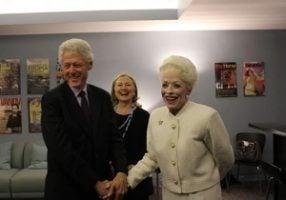Holland Taylor with Bill Clinton