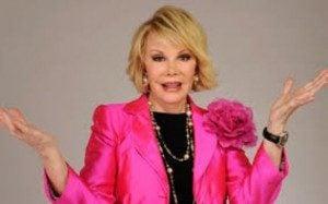Joan Rivers in pink
