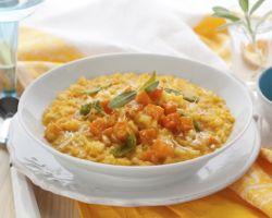 Bowl of pumpkin risotto