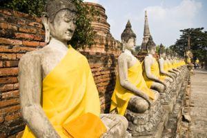 Thai budhas at temple