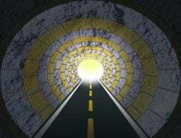 road into a tunnel