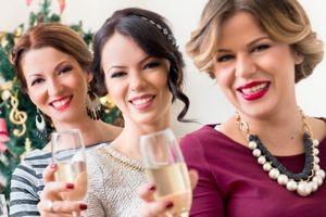 3 women celebrate new year