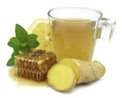 Lemon, ginger and honey drink