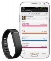 fitbit app and bracelet