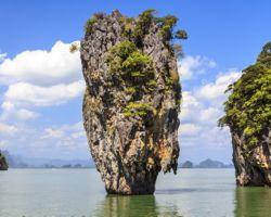 James Bond island Ko Tapu in Phang Nga bay