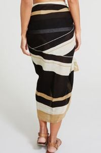 black striped sarong