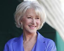 Helen Mirren looking great with grey hair