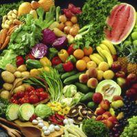 Selection of fresh fruit and veg