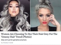 Article about 'granny hair' trending