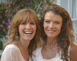 TV presenter Carol Smillie and tennis star Annabel Croft
