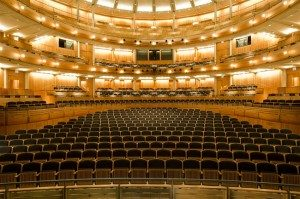 Inside Glyndebourne theatre