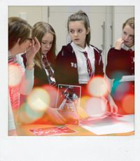 Group of girls learning about engineering at Spanxx