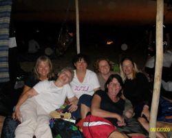 Group of women in a camp in Jordan