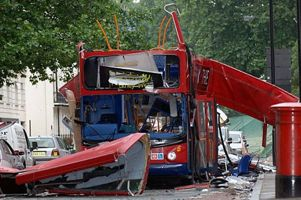 7/7 London Bus after the bombing