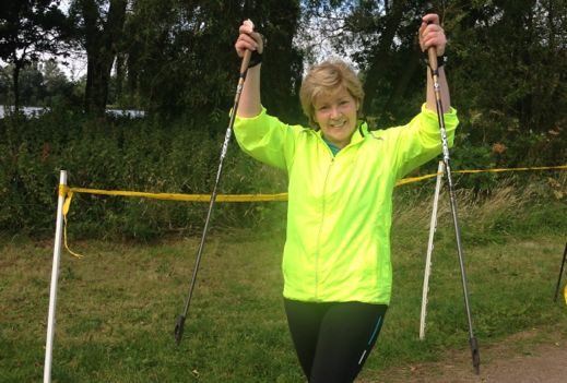Nordic Walking: celebrating my 50th parkrun