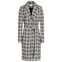 Reiss Rowan Textured Check Coat, Black/White