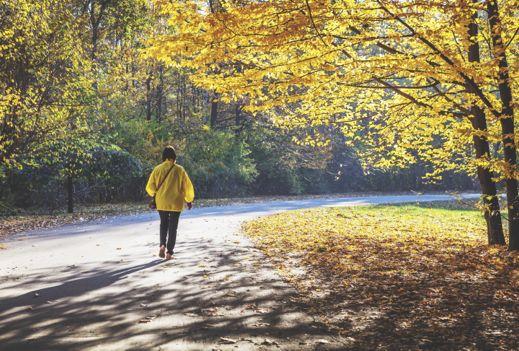 It's good to walk…