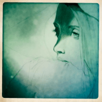 Sketch of a girl looking depressed