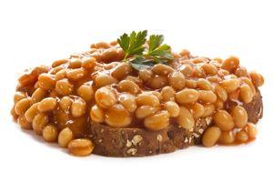 Baked beans on wholewheat toast