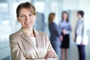 Woman on a good working day looking in control