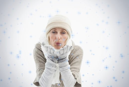 Woman dressed for winter in layers of clothes
