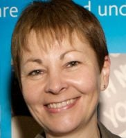 Shot of Caroline Lucas